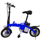 Bicicleta 12-Inch elétrica dobrada portátil por atacado com lâmpada do diodo emissor de luz