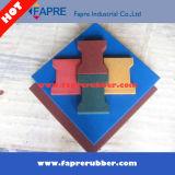 Tijolos de borracha do Cão-Osso/assoalho de borracha colorido da telha/borracha da segurança