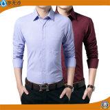 2017 Overhemd van de Koker van het Overhemd van de Mensen van de Manier het Toevallige Lange Slanke Geschikte