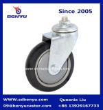 中型の軽量黒いポリウレタン産業足車の車輪