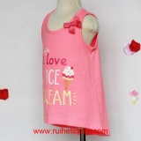Non Sleeve Pink T-Shirt для Clothing Girl