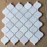 Mosaico di marmo bianco di Bianco Carrara per la parete della stanza da bagno