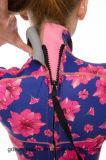 Стильная супер Stretchy Slimming мокрая одежда печатание неопрена для женщин