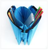 Einfacher Polyester-Reißverschluss-Bleistift-Beutel