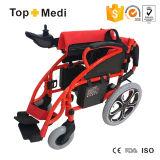 Topmediは安い価格Foldable力の電動車椅子中国にハンディキャップを付けた