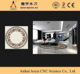 Floor Medallion Design/Marble、Granite CuttingのためのAy3018u 6000psiの5軸線CNC Water Jet Stone Cutting Machine