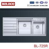 Évier de cuisine d'acier inoxydable de qualité Bl-725L