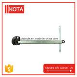 Инструменты трубопровода выдвигая ключ тазика