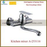 Gesundheitliche Ware-an der Wand befestigter Messingküche-Wannen-Wasser-Mischer