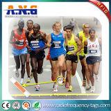 De UHF Markeringen van de Atleet RFID om Nauwkeurige het Eindigen Tijden te ontvangen voor het Rennen van de Marathon
