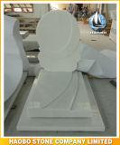 유럽 묘석 백색 대리석 묘비