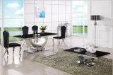 2016熱い販売法贅沢なデザインステンレス鋼のダイニングテーブルセット