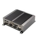 PC du dual core 1.8g de l'atome N455 de C.C 12V Intel de DDR3 2g mini avec le réseau local et le 6COM de 2*1000m