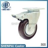 """5 """"中型の義務のためのナイロン旋回装置の足車の車輪"""