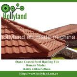 Tuile de toit en acier enduite en pierre (tuile romaine)