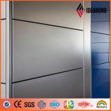 Panneau de revêtement en aluminium de mur externe métallique d'or de PVDF (AF-401)