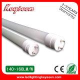 160lm/W, tube de T8 1500mm 33W DEL avec du CE, RoHS