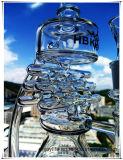 Recycler Perc 집 모양 유리제 연기가 나는 수관의 Hb K62 반