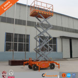 Small Aerial Working Mobile One Man Scissor Lift 500kg to 8 Meters