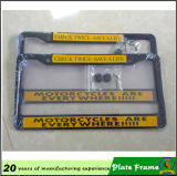 Marco de aluminio impreso insignia de encargo de la matrícula del metal