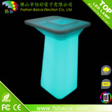 Tabla de coctel de la barra de la luz LED del color del resplandor de la alta calidad
