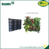Plantador colgante del Multi-Bolsillo del PE del jardín vertical respetuoso del medio ambiente de la tela