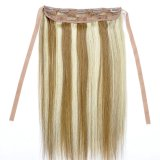 5 clip Lace Frontal Human Remy Hair Straight con Fastening Strap Clip in Hair