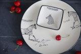 Exportation vers la plaque en céramique 0.4kg de pâtes d'assiette de déjeuner de plaque peinte rétro Gumo Deng par cheval de l'Europe