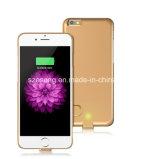 Banco sin hilos de la energía del paquete de la batería para iPhone6 iPhone6s o iPhone6 más, iPhone6s más, paquete de la batería, parte posterior de la energía