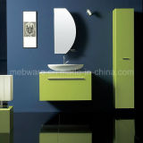 800mm Cheap Green PVC Bathroom Sets mit Tall Side Cabinet