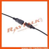 Écouteur interchangeable à deux fils avec des PTTs de revers pour Kenwood 2 radios Tk208/Tk220/Tk3204 de Pin