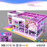 キャンデーの主題の創造的で多彩な子供のおかしい土地の屋内運動場のスライド