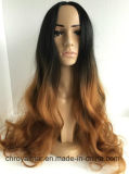 Pleine perruque de lacet de longue perruque synthétique bouclée de bonne qualité