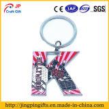 반지를 가진 주문 인쇄 로고 금속 열쇠 고리