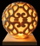 砂岩球ランプ、LEDの軽い庭の彫刻の彫像