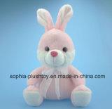 Juguete relleno suave del conejo de la felpa en el color rosado para los niños