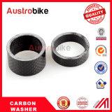 Fibra de carbono Fone de ouvido Arruela Espaçadores para Stem Road MTB Bike Fat Bike Fatbike