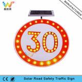 LEDの点滅の制限速度の印の太陽警告のトラフィックの交通標識