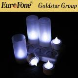 Conjunto de 6 colores multi de la vela de Rechrageable LED con teledirigido