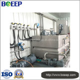 Sistema di trattamento di acque luride Integrated mobile per l'asciugamento del fango