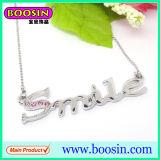 Kundenspezifischer Großhandelskristall individuelle Brief-Anhänger-Halskette