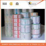 서류상 PVC 투명한 서비스 Barcode 스티커를 인쇄하는 것은 인쇄 기계 레이블을 인쇄했다