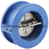 던지기 Iron 또는 Ductile Iron Wafer Dual Plate Check Valves