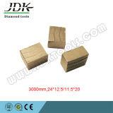 화강암을%s Jdk 3000mm 다이아몬드 세그먼트 또는 원형 잎 절단 세그먼트