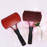L'acier inoxydable goupille le balai de cheveu pour le nettoyage d'animal familier