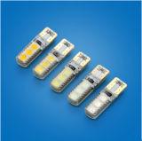 Lampadina interna 90lumen DC12V del lato della coda di 2PCS T10 W5w 1.5W 6 SMD 5050 Canbus della lampada chiara automatica senza errori superiore dell'automobile LED