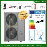 Calefator de água ambiental quente do ar da bomba de calor da água 19kw/35kw/70kw Evi do quarto +55c do medidor do aquecimento de assoalho 100~250sq do inverno de Denmark-20c baixo