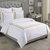 400tc Satin The Linden Gray Duvet Set Modern Duvet Covers e Duvet Sets (DPFB8084)