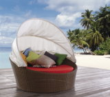 Handmade малый круглый салон ротанга сада Leisrue напольный с сенью (YTF058)