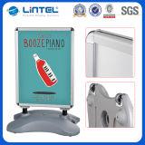 Segno mobile della pavimentazione del serbatoio di acqua dello schiocco del blocco per grafici di alluminio del manifesto (LT-10G)